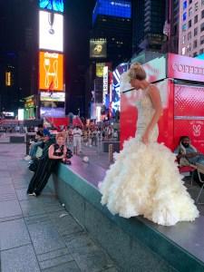 BTS NYC Bridal photo session Times Square