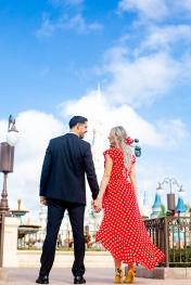 @ Photographer Amy Elizabeth Birdsong Photography Disney World Engagement Photos -2