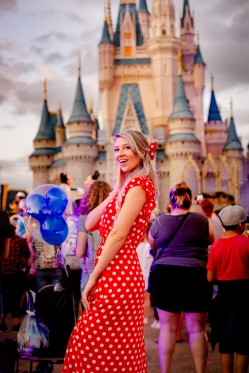 Disney Parade and Minnie dress- perfect combo.