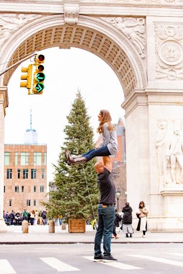Washington Square Park at Christmas...