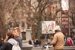 Elizabeth Birdsong Photography Destination wedding photographer Washington Square Park engagement Locations NYC-2