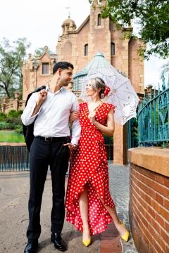 Photographer Amy Elizabeth Birdsong Photography Disney World Magic Kingdom Engagement Photos-35